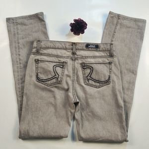 Rock & Republic Grey Straight Cut Jeans size 26